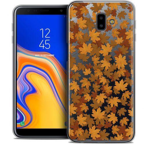 "Coque Crystal Gel Samsung Galaxy J6 Plus J6+ (6.4"") Extra Fine Autumn 16 - Feuilles"
