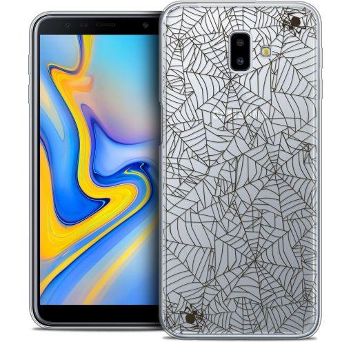 "Coque Crystal Gel Samsung Galaxy J6 Plus J6+ (6.4"") Extra Fine Halloween - Spooky Spider"