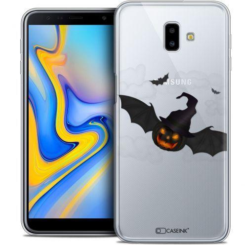 "Coque Crystal Gel Samsung Galaxy J6 Plus J6+ (6.4"") Extra Fine Halloween - Chauve Citrouille"