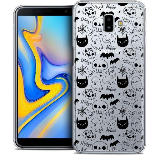 "Coque Crystal Gel Samsung Galaxy J6 Plus J6+ (6.4"") Extra Fine Halloween - Spooky"