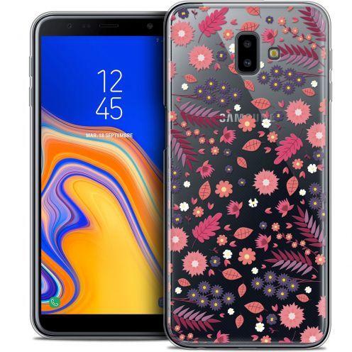 "Coque Crystal Gel Samsung Galaxy J6 Plus J6+ (6.4"") Extra Fine Spring - Printemps"