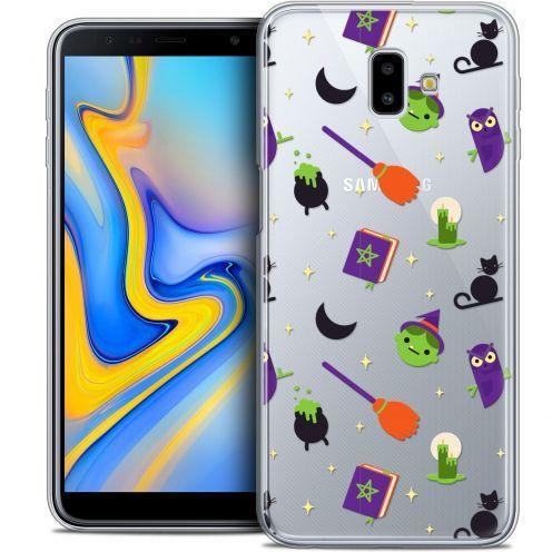 "Coque Crystal Gel Samsung Galaxy J6 Plus J6+ (6.4"") Extra Fine Halloween - Witch Potter"