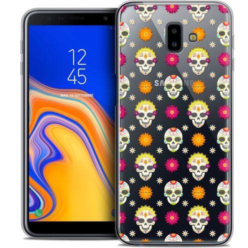 "Coque Crystal Gel Samsung Galaxy J6 Plus J6+ (6.4"") Extra Fine Halloween - Skull Halloween"
