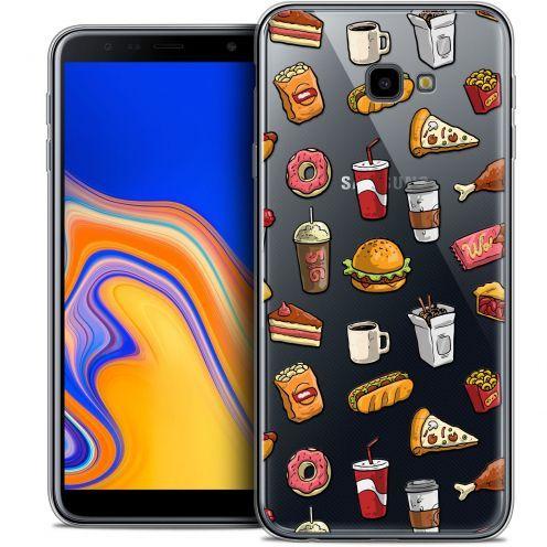 """Coque Crystal Gel Samsung Galaxy J4 Plus J4+ (6"""") Extra Fine Foodie - Fast Food"""