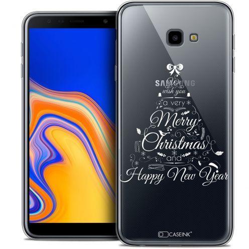 "Coque Crystal Gel Samsung Galaxy J4 Plus J4+ (6"") Extra Fine Noël 2017 - Calligraphie"