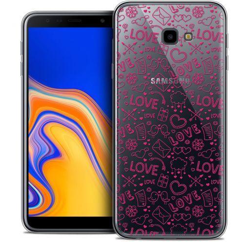"Coque Crystal Gel Samsung Galaxy J4 Plus J4+ (6"") Extra Fine Love - Doodle"