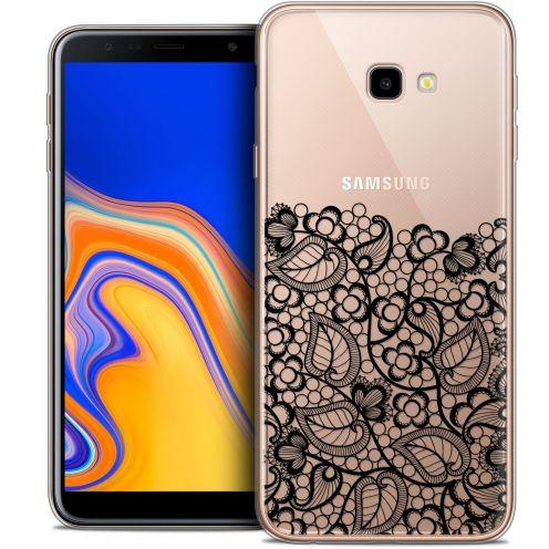 """Coque Crystal Gel Samsung Galaxy J4 Plus J4+ (6"""") Extra Fine Spring - Bas dentelle Noir"""