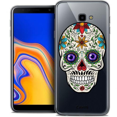 """Coque Crystal Gel Samsung Galaxy J4 Plus J4+ (6"""") Extra Fine Skull - Maria's Flower"""