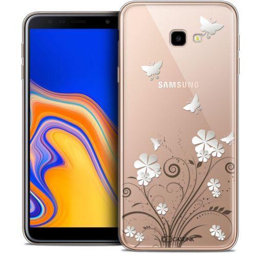 "Coque Crystal Gel Samsung Galaxy J4 Plus J4+ (6"") Extra Fine Summer - Papillons"