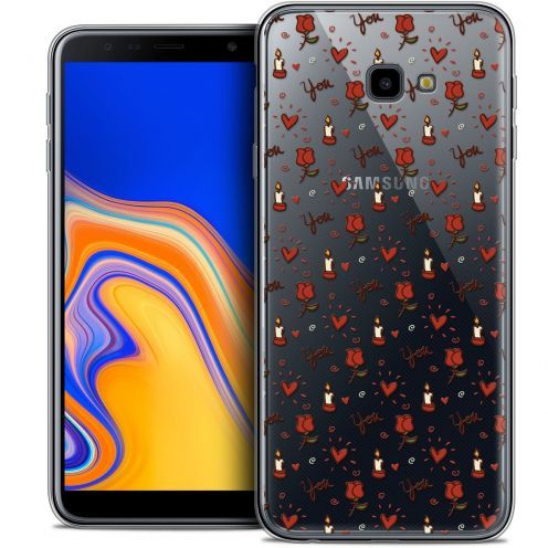 "Coque Crystal Gel Samsung Galaxy J4 Plus J4+ (6"") Extra Fine Love - Bougies et Roses"