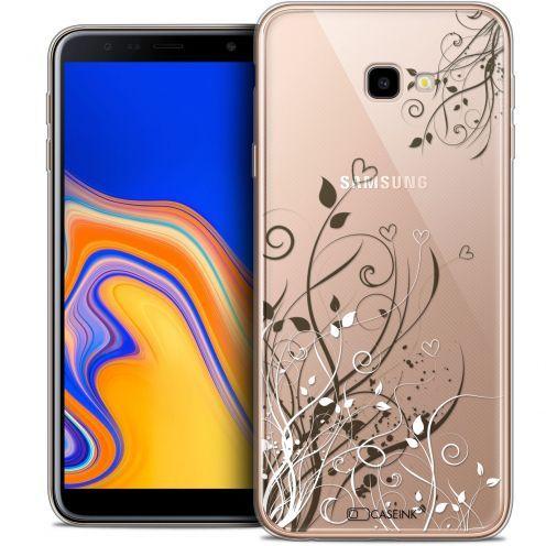 "Coque Crystal Gel Samsung Galaxy J4 Plus J4+ (6"") Extra Fine Love - Hearts Flowers"
