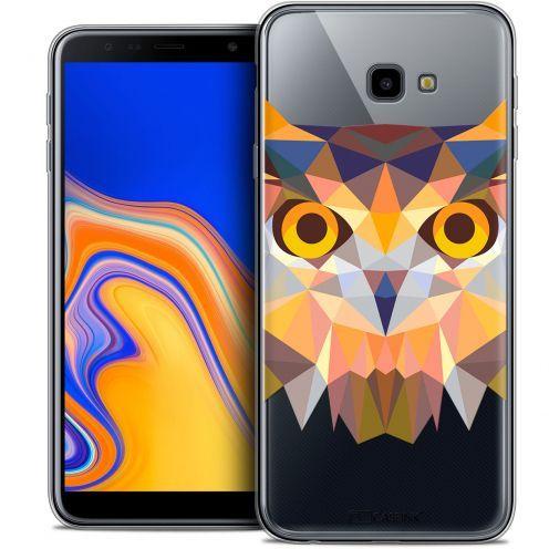 """Coque Crystal Gel Samsung Galaxy J4 Plus J4+ (6"""") Extra Fine Polygon Animals - Hibou"""