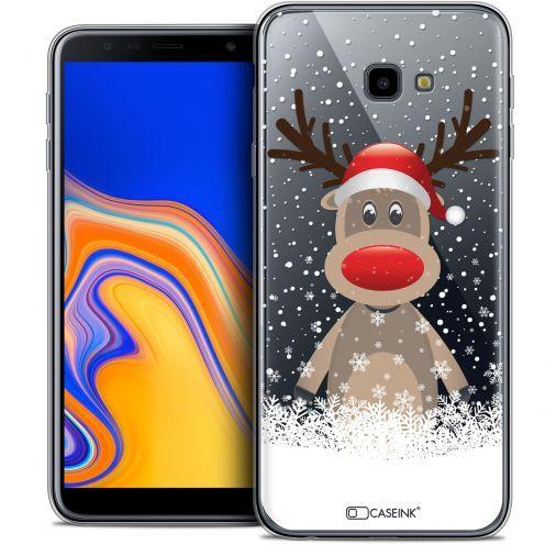 """Coque Crystal Gel Samsung Galaxy J4 Plus J4+ (6"""") Extra Fine Noël 2017 - Cerf au Bonnet"""