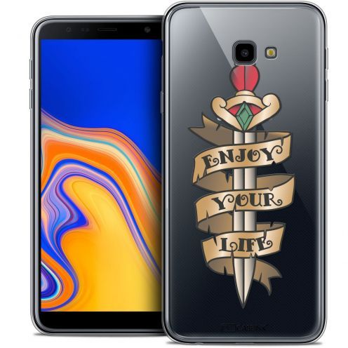 "Coque Crystal Gel Samsung Galaxy J4 Plus J4+ (6"") Extra Fine Tatoo Lover - Enjoy Life"