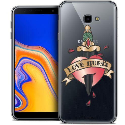 "Coque Crystal Gel Samsung Galaxy J4 Plus J4+ (6"") Extra Fine Tatoo Lover - Love Hurts"