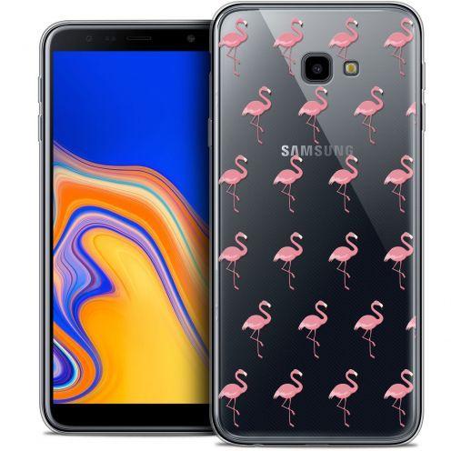 "Coque Crystal Gel Samsung Galaxy J4 Plus J4+ (6"") Extra Fine Pattern - Les flamants Roses"