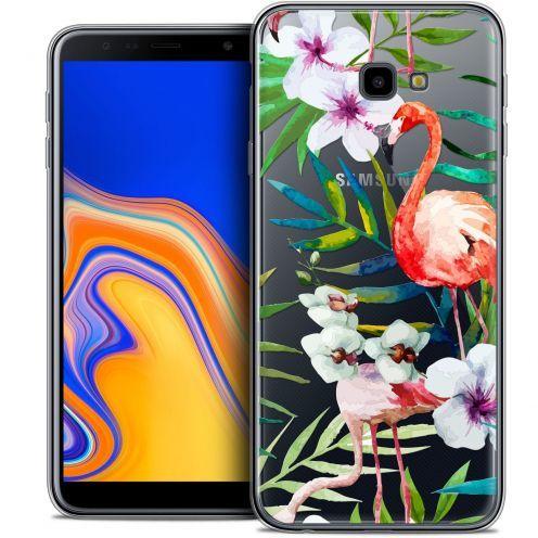 """Coque Crystal Gel Samsung Galaxy J4 Plus J4+ (6"""") Extra Fine Watercolor - Tropical Flamingo"""