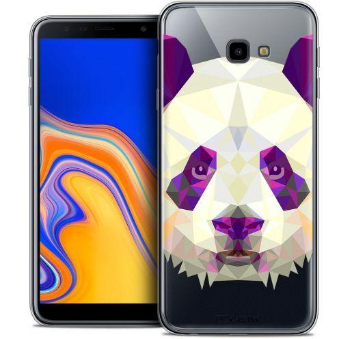 "Coque Crystal Gel Samsung Galaxy J4 Plus J4+ (6"") Extra Fine Polygon Animals - Panda"