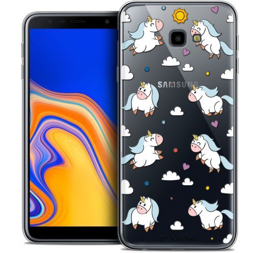 "Coque Crystal Gel Samsung Galaxy J4 Plus J4+ (6"") Extra Fine Fantasia - Licorne In the Sky"