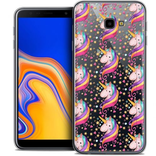"Coque Crystal Gel Samsung Galaxy J4 Plus J4+ (6"") Extra Fine Fantasia - Licorne Etoilée"