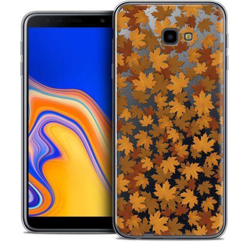 "Coque Crystal Gel Samsung Galaxy J4 Plus J4+ (6"") Extra Fine Autumn 16 - Feuilles"