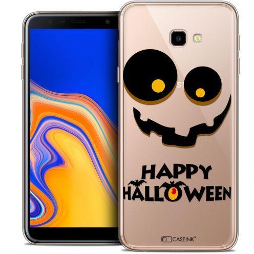 "Coque Crystal Gel Samsung Galaxy J4 Plus J4+ (6"") Extra Fine Halloween - Happy"