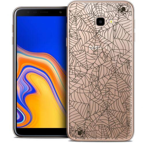 "Coque Crystal Gel Samsung Galaxy J4 Plus J4+ (6"") Extra Fine Halloween - Spooky Spider"