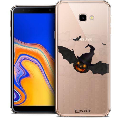 "Coque Crystal Gel Samsung Galaxy J4 Plus J4+ (6"") Extra Fine Halloween - Chauve Citrouille"