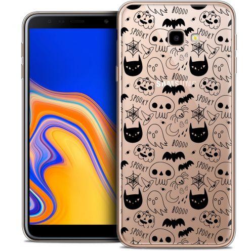 "Coque Crystal Gel Samsung Galaxy J4 Plus J4+ (6"") Extra Fine Halloween - Spooky"