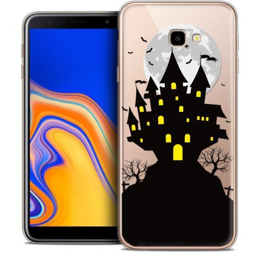 """Coque Crystal Gel Samsung Galaxy J4 Plus J4+ (6"""") Extra Fine Halloween - Castle Scream"""