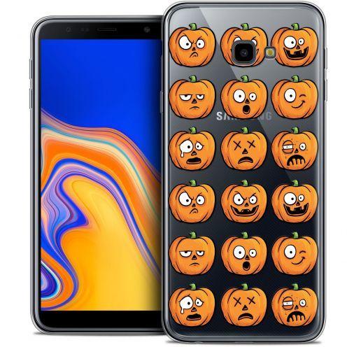 "Coque Crystal Gel Samsung Galaxy J4 Plus J4+ (6"") Extra Fine Halloween - Cartoon Citrouille"