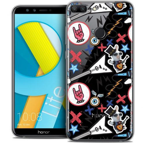 "Coque Gel Huawei Honor 9 LITE (5.7"") Extra Fine Lapins Crétins™ - Rock Pattern"