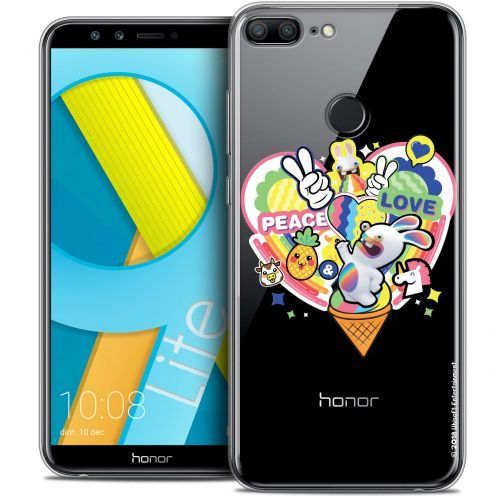 "Coque Gel Huawei Honor 9 LITE (5.7"") Extra Fine Lapins Crétins™ - Peace And Love"