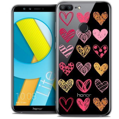 "Coque Crystal Gel Huawei Honor 9 LITE (5.7"") Extra Fine Sweetie - Doodling Hearts"