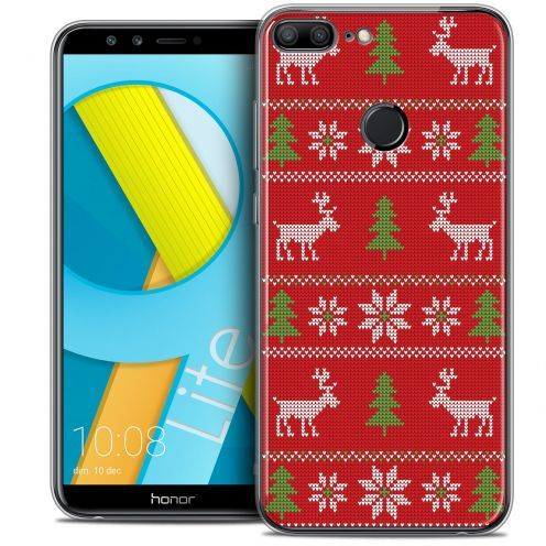 "Coque Crystal Gel Huawei Honor 9 LITE (5.7"") Extra Fine Noël 2017 - Couture Rouge"