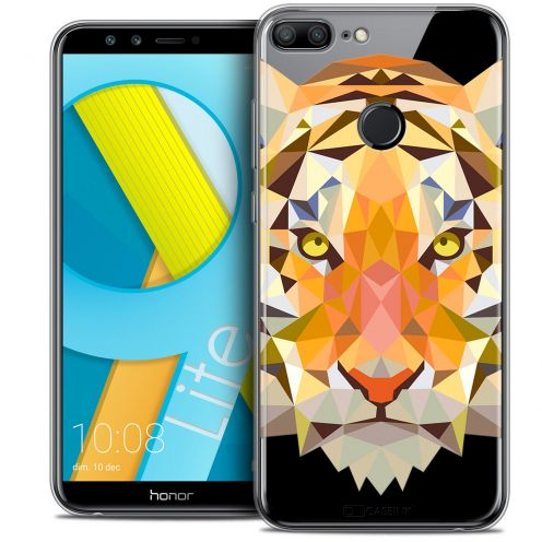 "Coque Crystal Gel Huawei Honor 9 LITE (5.7"") Extra Fine Polygon Animals - Tigre"