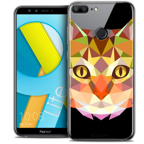 "Coque Crystal Gel Huawei Honor 9 LITE (5.7"") Extra Fine Polygon Animals - Chat"