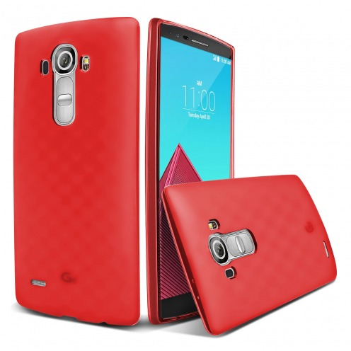 Coque LG G4 Frozen Ice Extra Fine Rouge