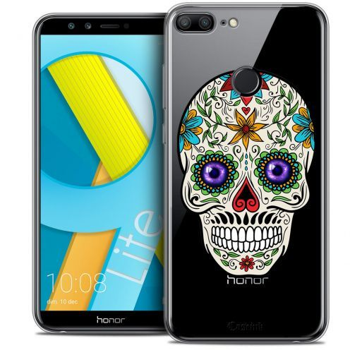 "Coque Crystal Gel Huawei Honor 9 LITE (5.7"") Extra Fine Skull - Maria's Flower"