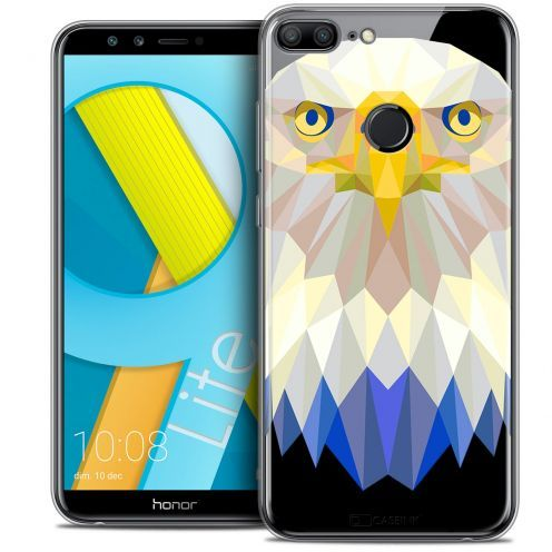 "Coque Crystal Gel Huawei Honor 9 LITE (5.7"") Extra Fine Polygon Animals - Aigle"