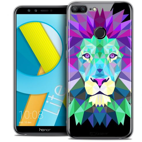 "Coque Crystal Gel Huawei Honor 9 LITE (5.7"") Extra Fine Polygon Animals - Lion"