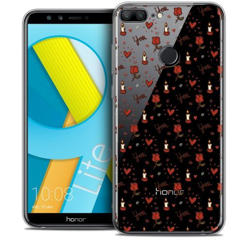 "Coque Crystal Gel Huawei Honor 9 LITE (5.7"") Extra Fine Love - Bougies et Roses"
