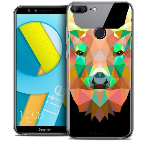"Coque Crystal Gel Huawei Honor 9 LITE (5.7"") Extra Fine Polygon Animals - Cerf"