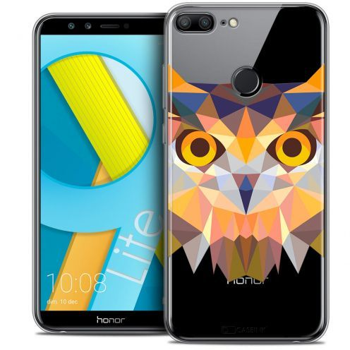 "Coque Crystal Gel Huawei Honor 9 LITE (5.7"") Extra Fine Polygon Animals - Hibou"