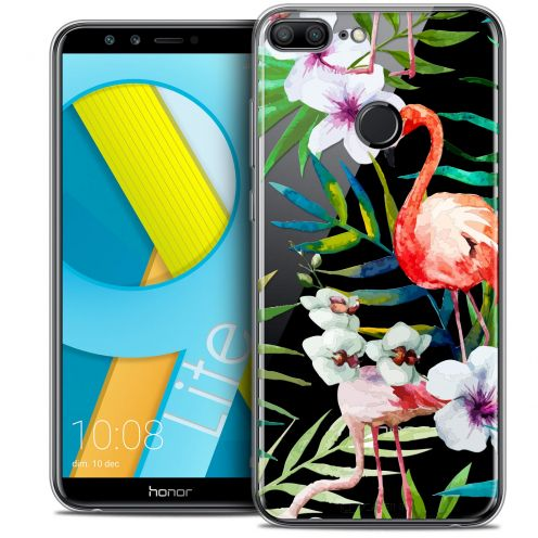 "Coque Crystal Gel Huawei Honor 9 LITE (5.7"") Extra Fine Watercolor - Tropical Flamingo"