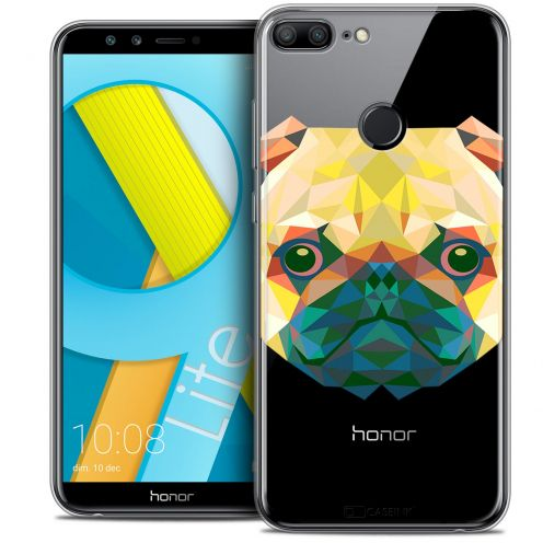 "Coque Crystal Gel Huawei Honor 9 LITE (5.7"") Extra Fine Polygon Animals - Chien"