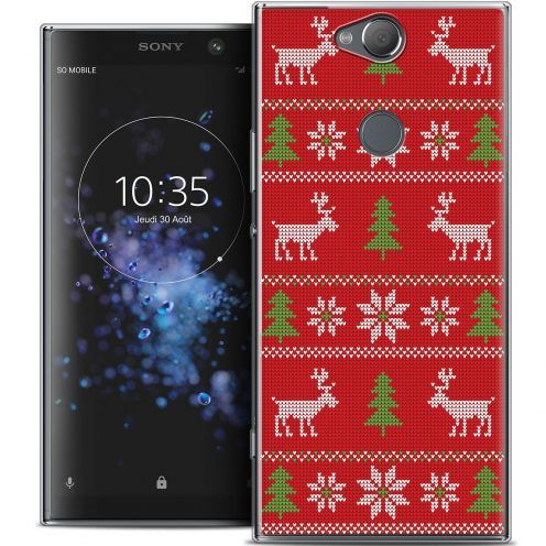 "Coque Crystal Gel Sony Xperia XA2 PLUS (6"") Extra Fine Noël 2017 - Couture Rouge"