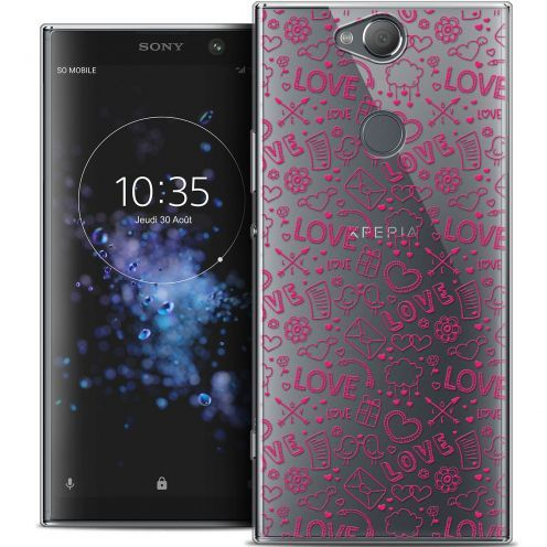 "Coque Crystal Gel Sony Xperia XA2 PLUS (6"") Extra Fine Love - Doodle"