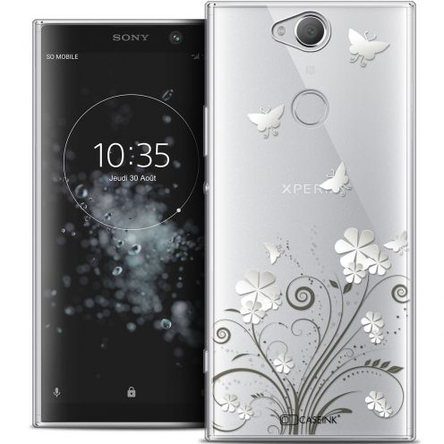 """Coque Crystal Gel Sony Xperia XA2 PLUS (6"""") Extra Fine Summer - Papillons"""