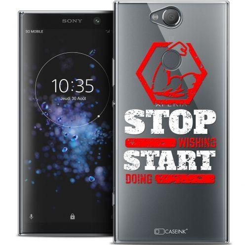 """Coque Crystal Gel Sony Xperia XA2 PLUS (6"""") Extra Fine Quote - Start Doing"""